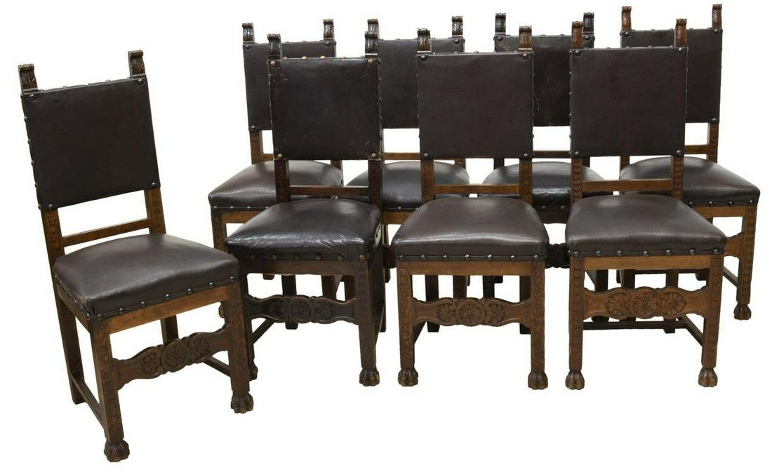 (8) ITALIAN RENAISSANCE REVIVAL DINING CHAIRS