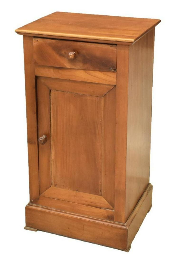 FRENCH LOUIS PHILIPPE FRUITWOOD BEDSIDE CABINET