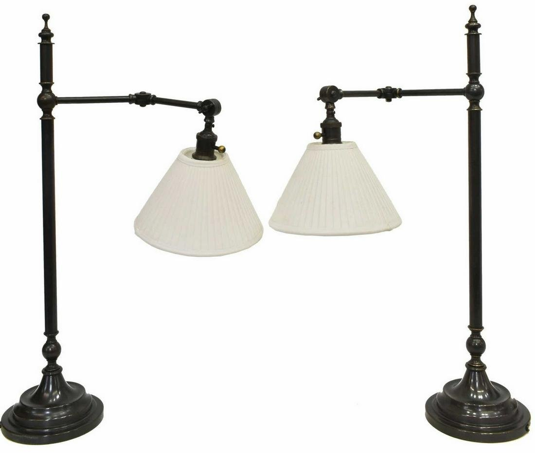 (2) ROBERT ABBEY INC ARTICULATED TABLE LAMPS