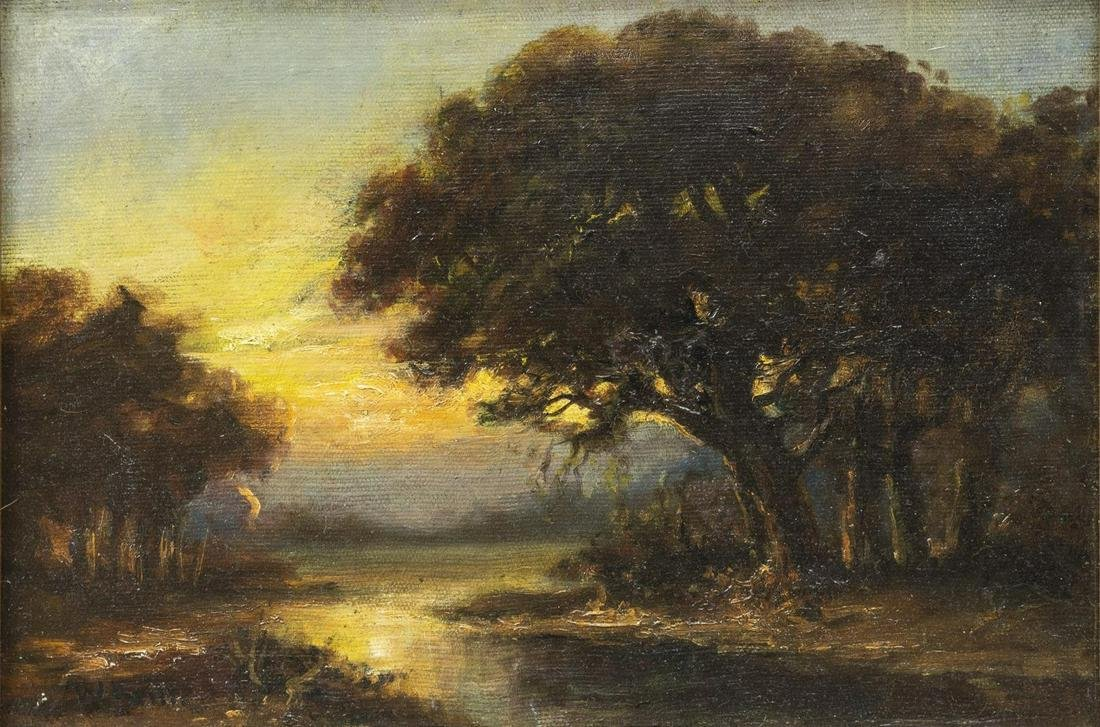 WILLIAM KEITH (1838-1911) LANDSCAPE OIL PAINTING