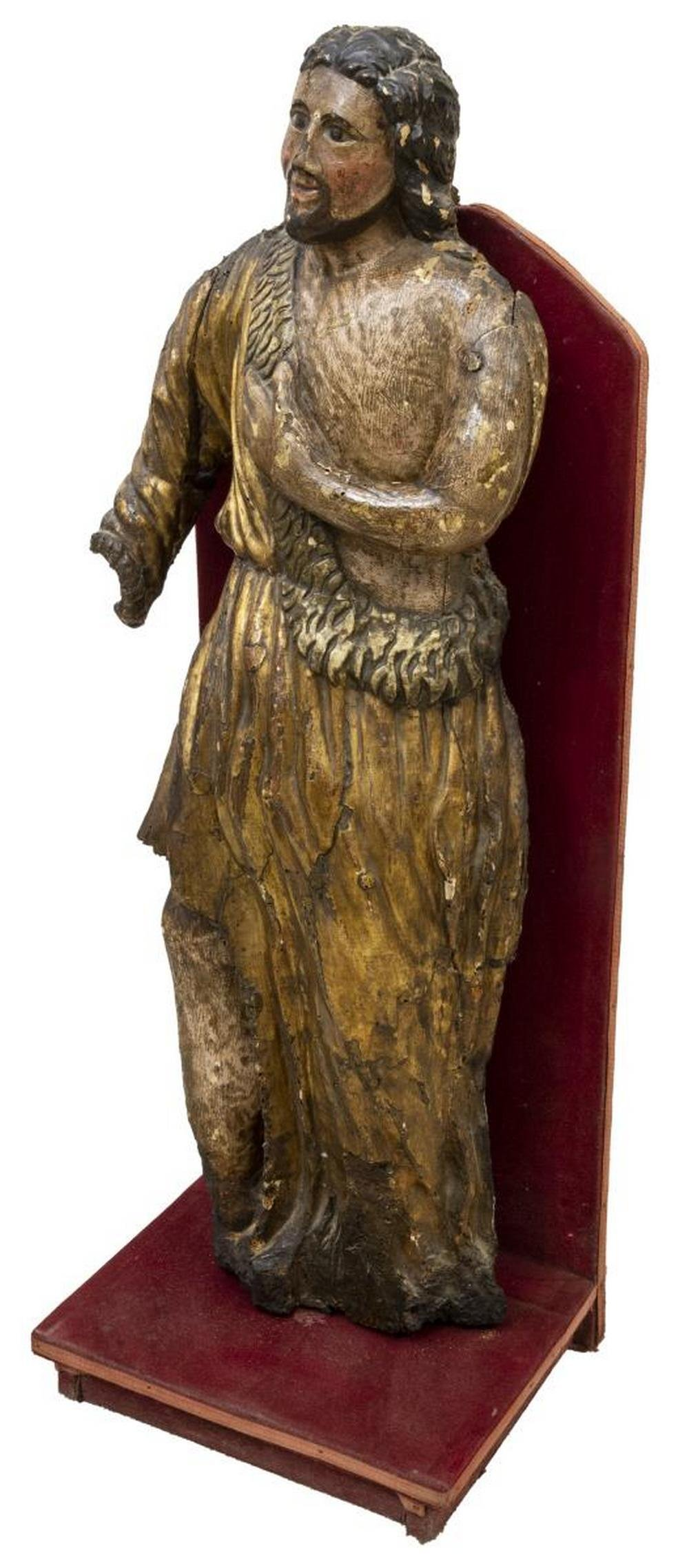 CONTINENTAL RELIGIOUS FINELY GILT FIGURE OF CHRIST