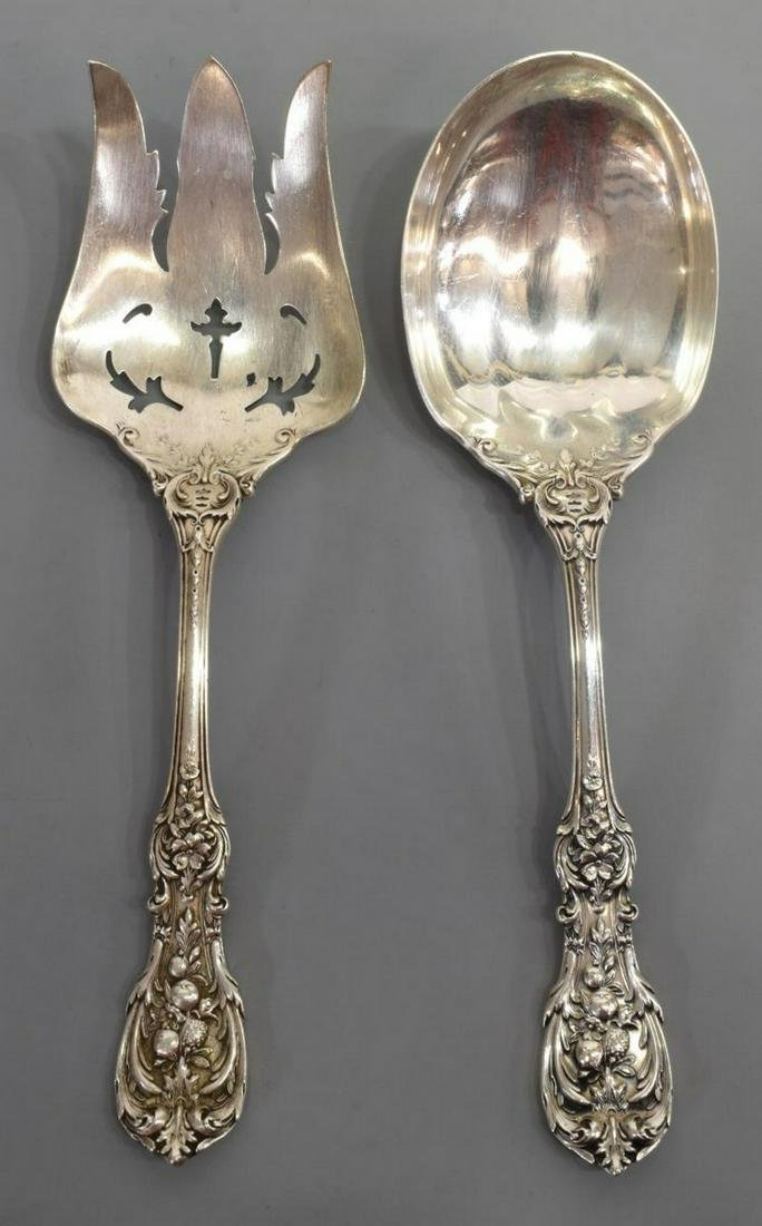 (2) REED & BARTON 'FRANCIS I' STERLING SALAD SET