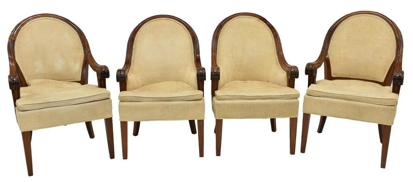 (4) CONTEMPORARY UPHOLSTERED ARMCHAIRS