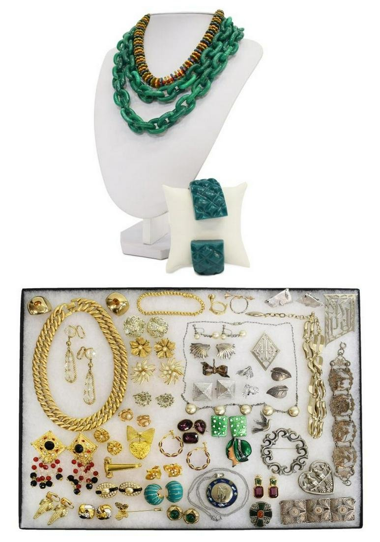 (LOT) VINTAGE COSTUME JEWELRY, GIVENCHY, TRIFARI