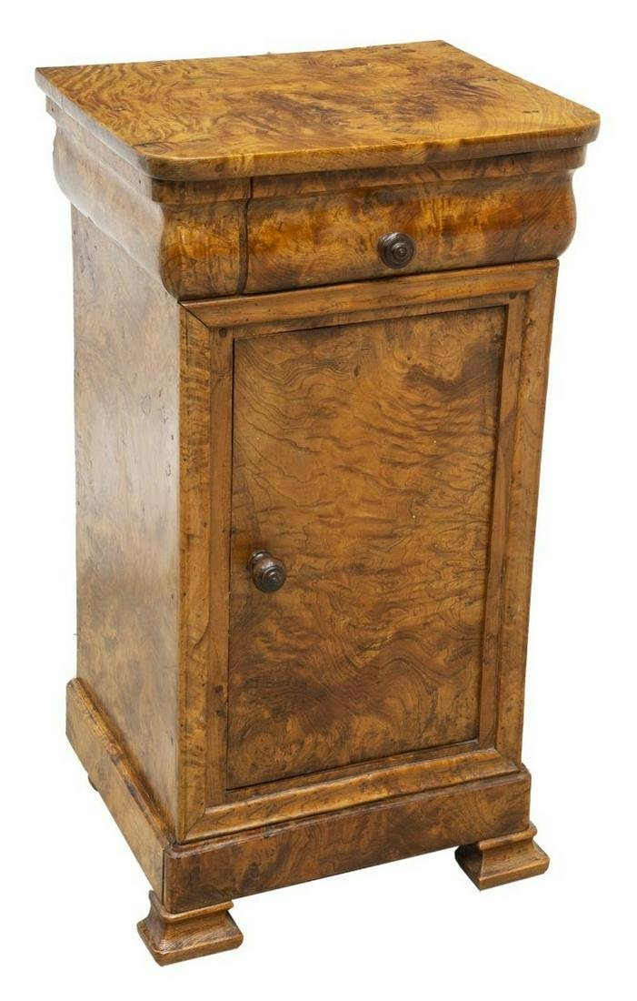 FRENCH LOUIS PHILIPPE HIGHLY FIGURED SIDE CABINET