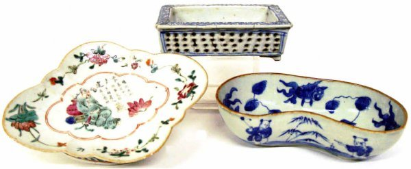 518: GROUP OF CHINESE PORCELAIN ENAMEL PAINTED PIECES