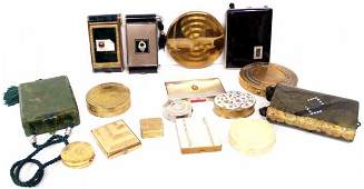 608 GROUP OF VINTAGE DECO COMPACTS  EVENING PURSES