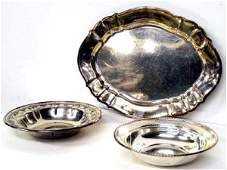 870: GROUP STERLING SILVER PLATTER BOWLS GORHAM TOWLE