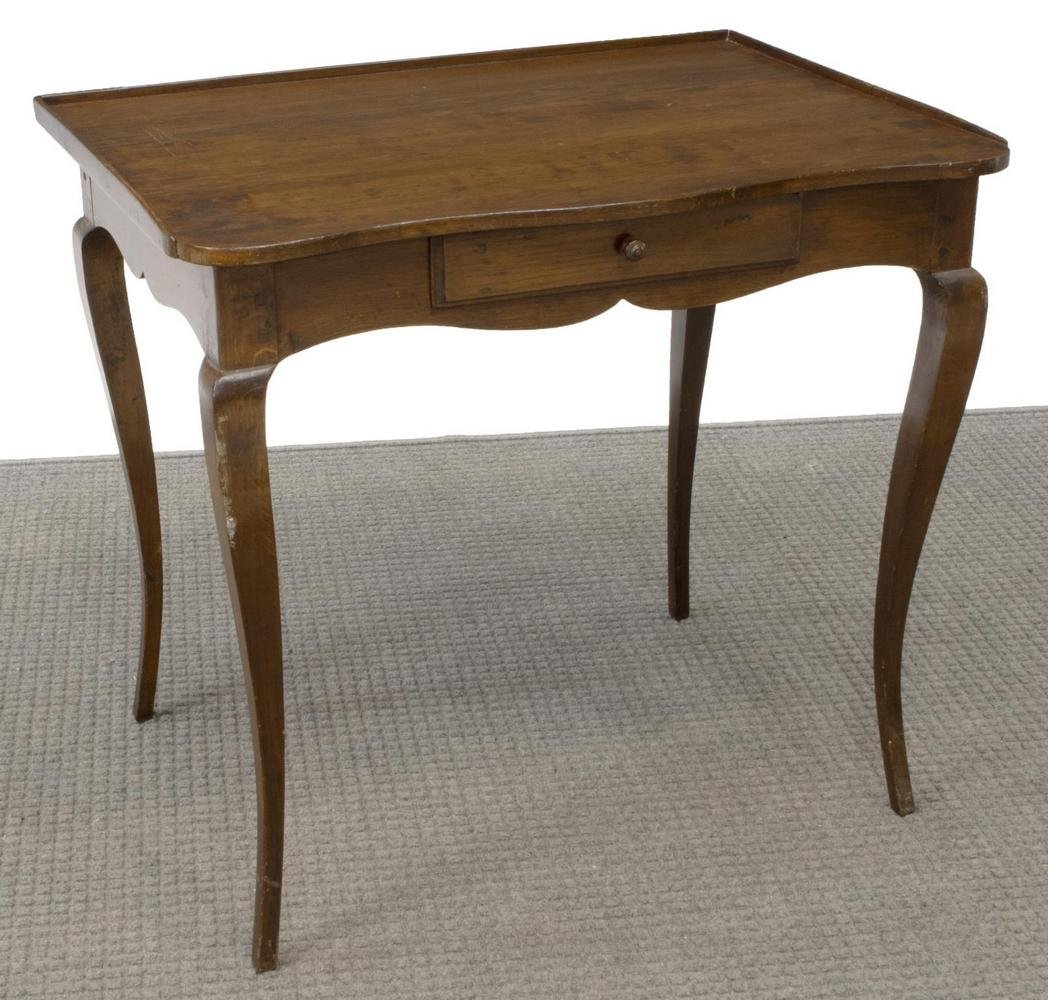 FRENCH LOUIS XV STYLE OAK CONSOLE / HALL TABLE