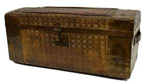 SMALL TRAVELING STORAGE CHEST/ TRUNK TRAIN CASE