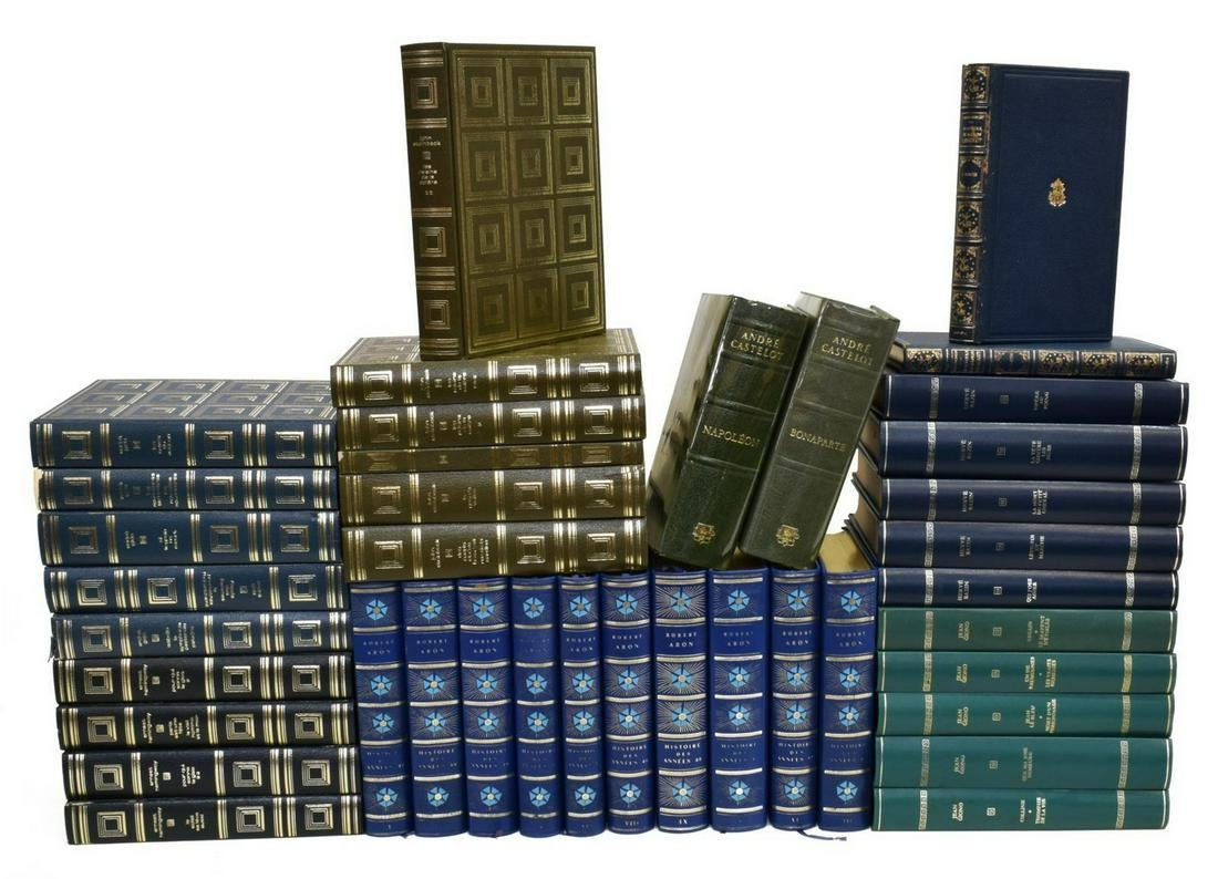 (39) FRENCH LIBRARY SHELF BOOKS