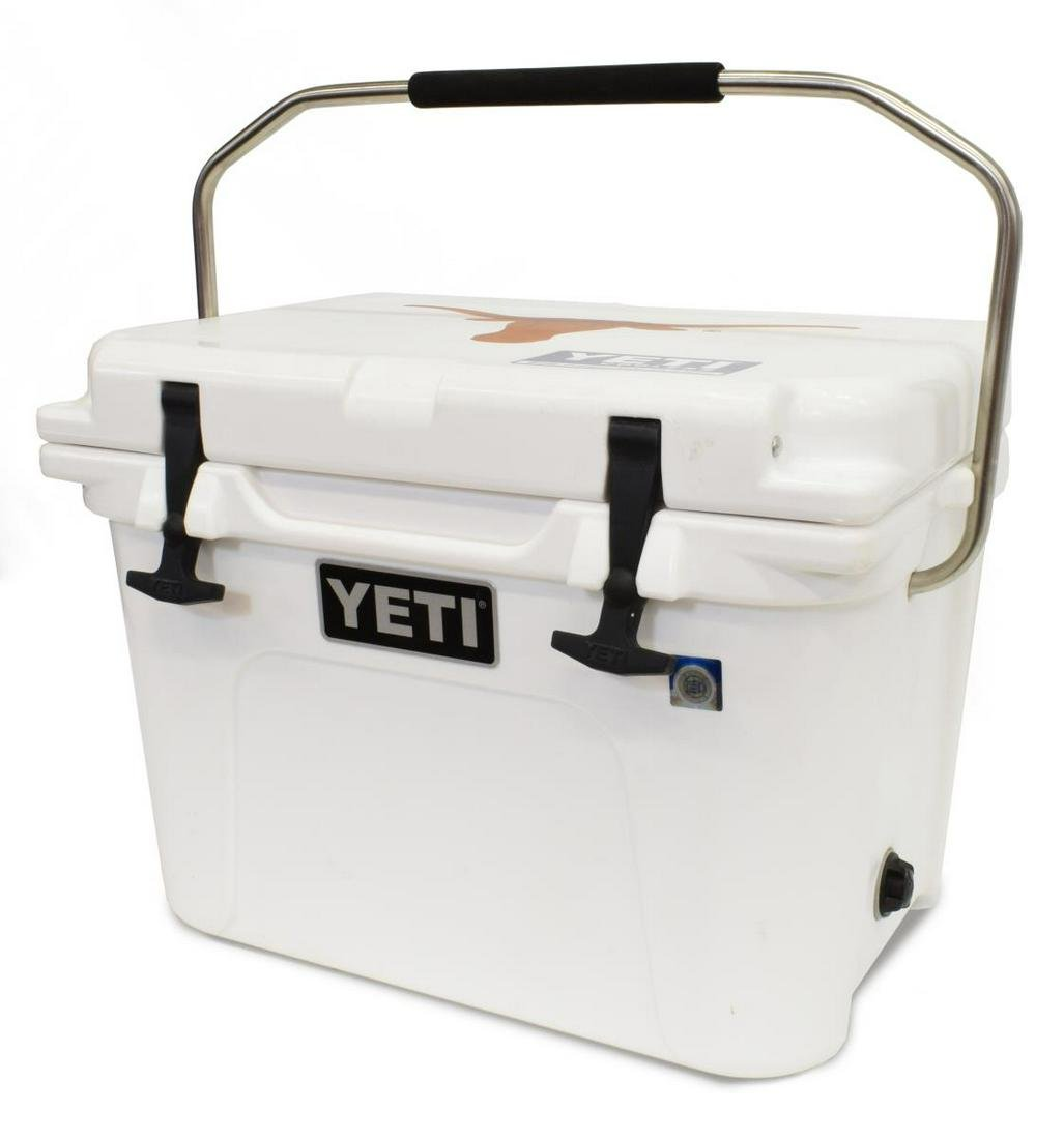 COLT McCOY SIGNED YETI #20 ROADIE COOLER