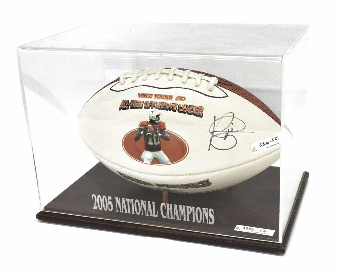 VINCE YOUNG AUTOGRAPHED TEXAS LONGHORN FOOTBALL