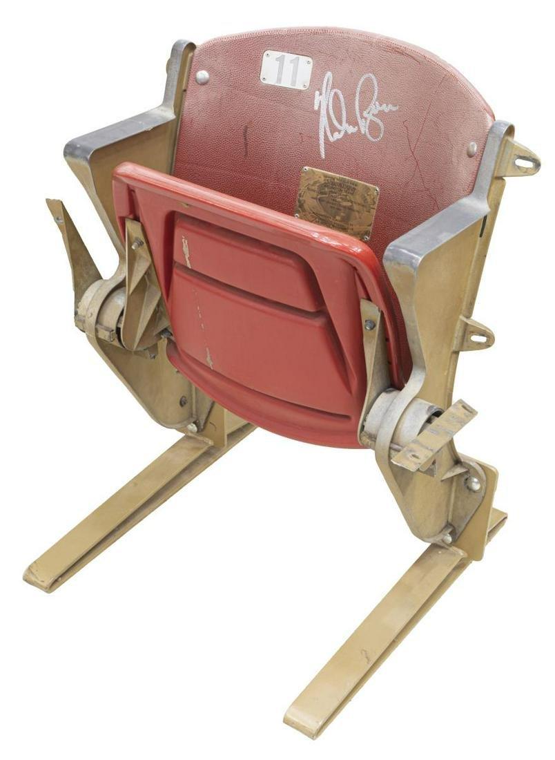 NOLAN RYAN AUTOGRAPHED TEXAS RANGER STADIUM SEAT
