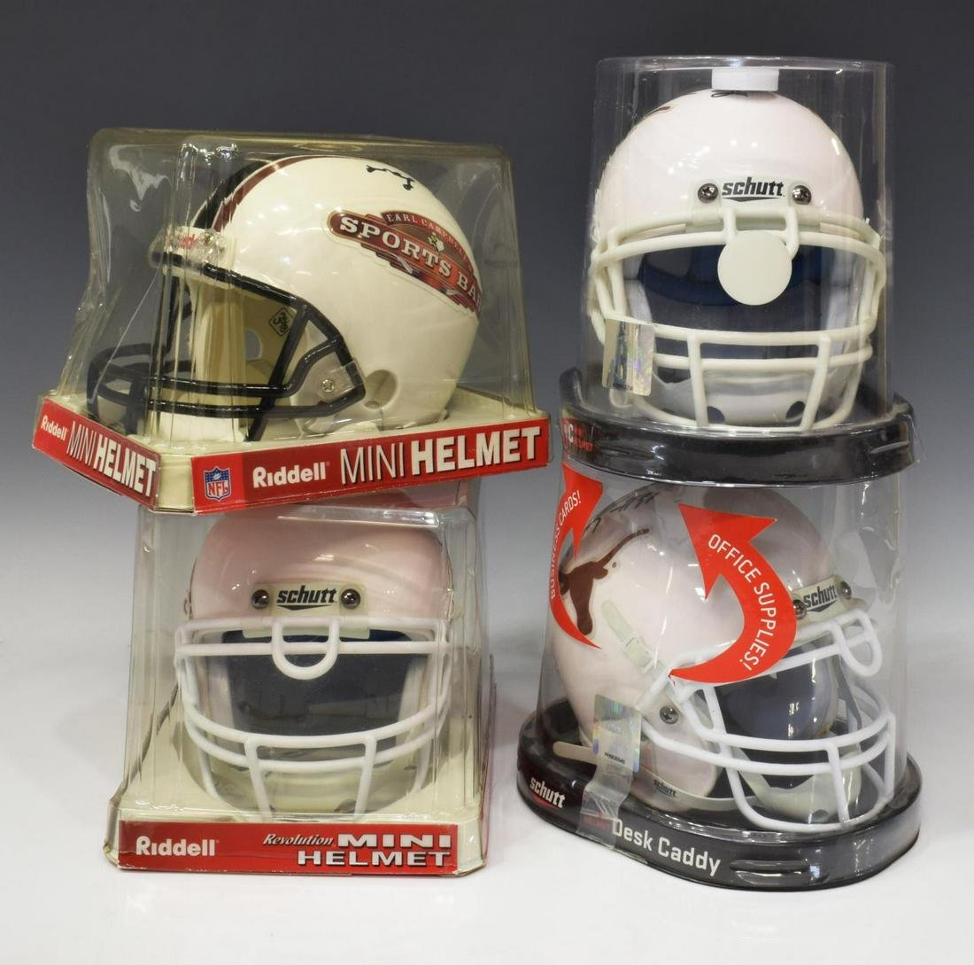 (4) TEXAS SIGNED MINI HELMETS, CAMBPELL, ORAKPO