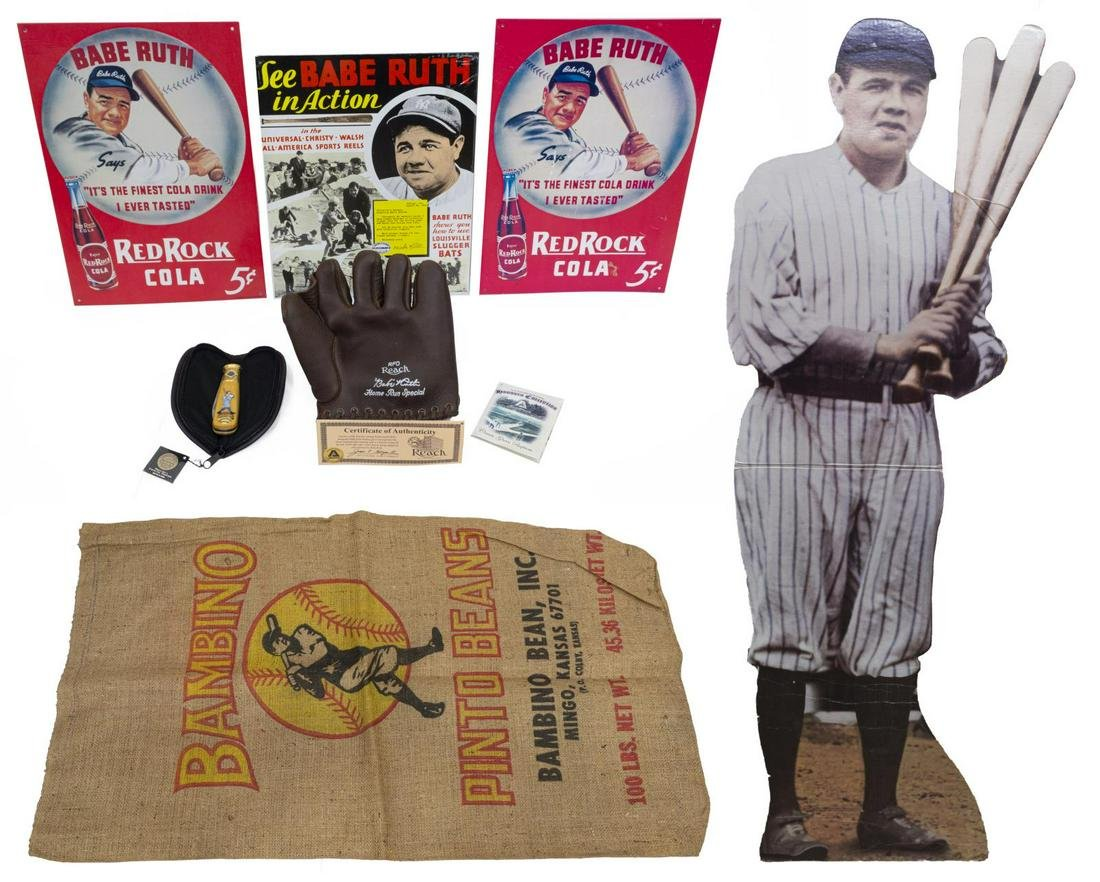 BABE RUTH RELATED ITEMS, LIFE SIZE CUTOUT FIGURE