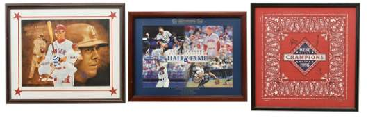 (3) TEXAS RANGERS POSTERS AND AUTOGRAPHS