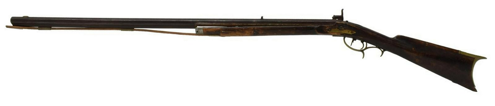 AMERICAN HALF STOCK PERCUSSION LONG RIFLE, PSJ