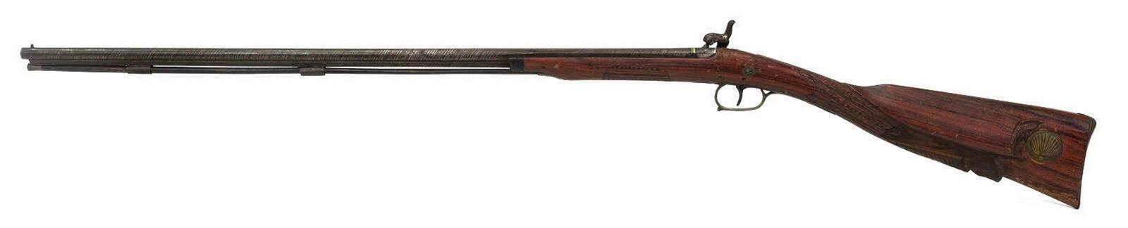 ANTIQUE BRAZILIAN PERCUSSION SMOOTHBORE LONG GUN