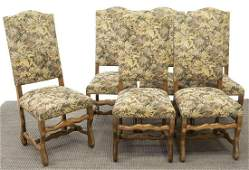 (6) FRENCH LOUIS XIV STYLE HIGH BACK DINING CHAIRS