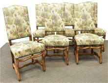 (6) FRENCH LOUIS XIV STYLE HIGHBACK DINING CHAIRS
