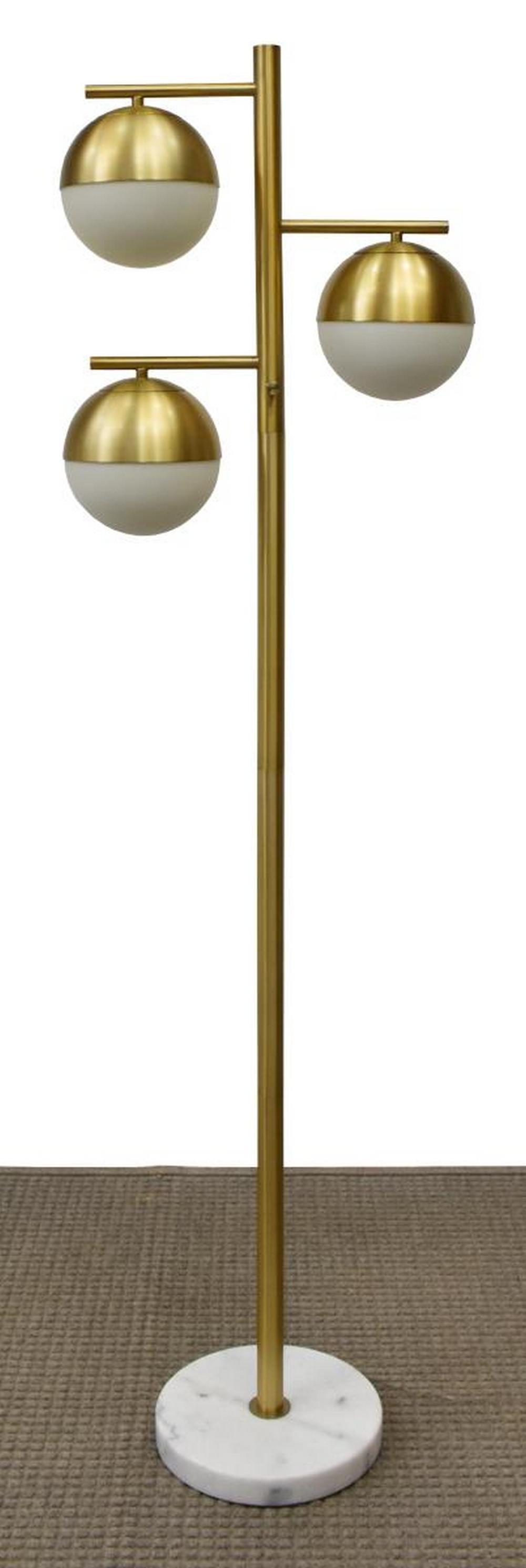 MID-CENTURY MODERN STYLE THREE-LIGHT FLOOR LAMP