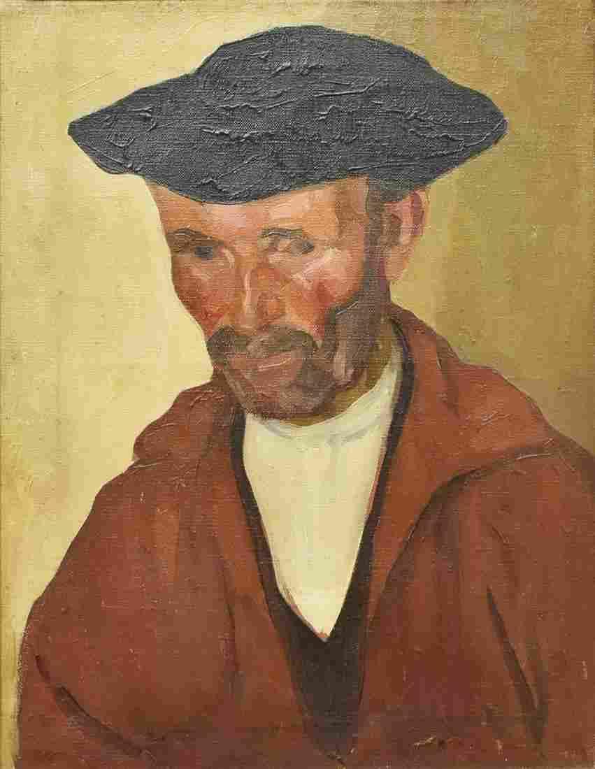 WILLIAM AUERBACH-LEVY (1889-1964) BASQUE PORTRAIT