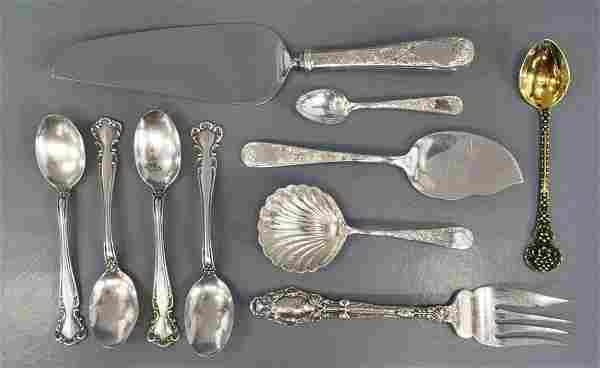 (10) COLLECTION ASSORTED STERLING SILVER FLATWARE