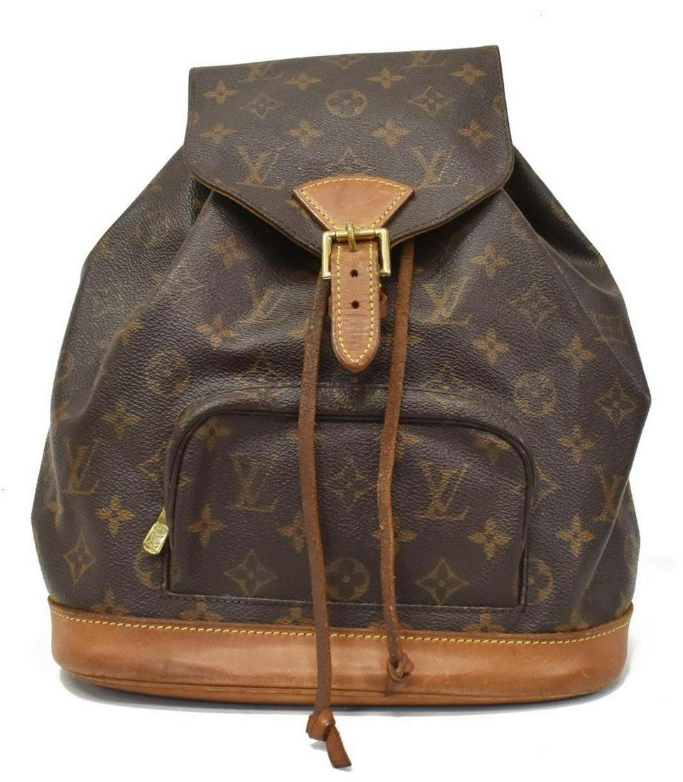 LOUIS VUITTON 'MONTSOURIS MM' MONOGRAM BACKPACK