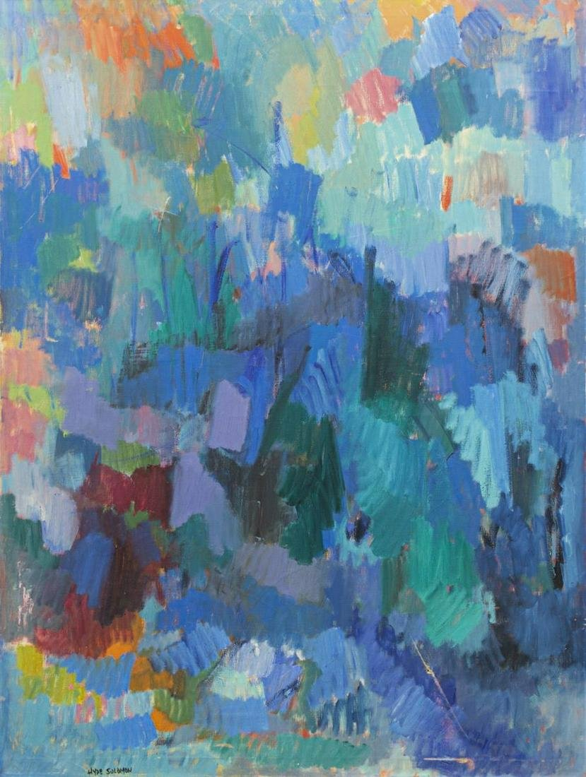 HYDE SOLOMON (D.1982) COLORFUL ABSTRACT PAINTING