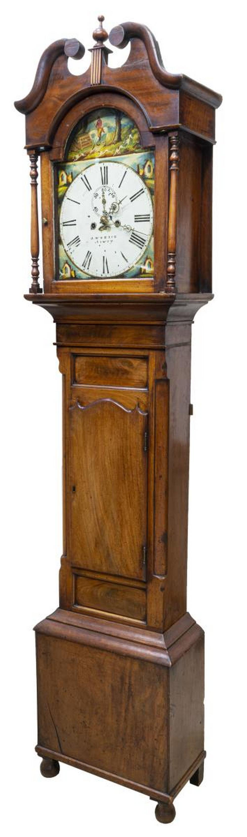 BRITISH MAHOGANY TALL CASE CLOCK, J. McNEICE