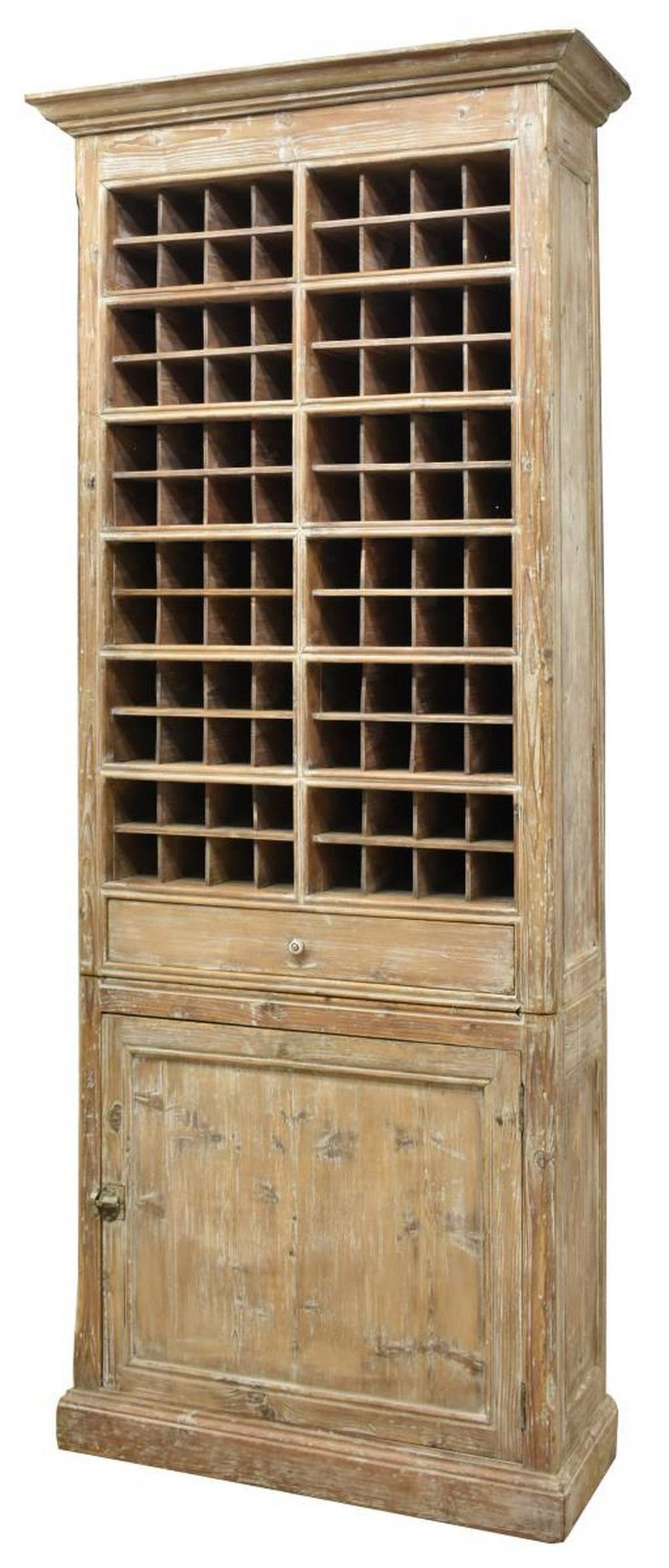 FRENCH PINE BOTTLE STORAGE CABINET