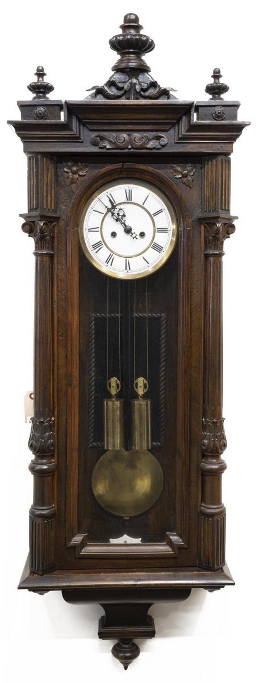 GUSTAV BECKER TWO WEIGHT REGULATOR WALL CLOCK