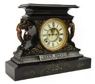 ANSONIA CLOCK CO. OPEN ESCAPEMENT MANTEL CLOCK