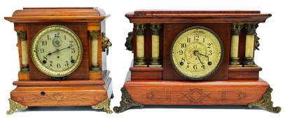 (2) AMERICAN SETH THOMAS DECORATIVE MANTLE CLOCKS
