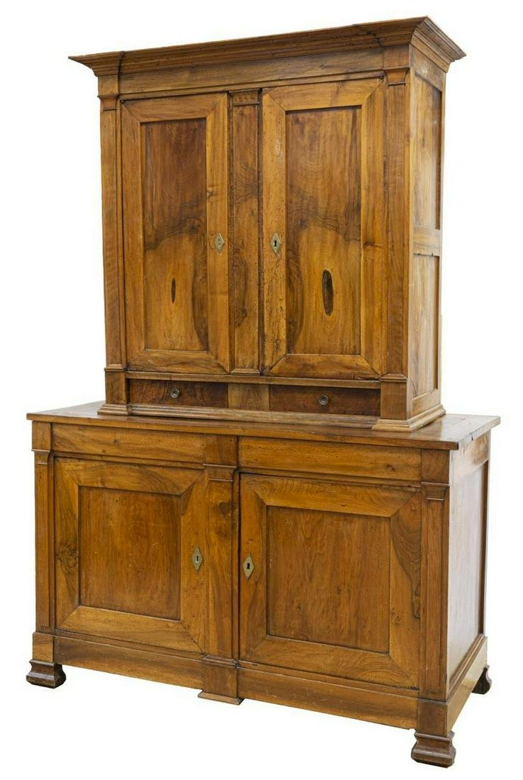 FRENCH LOUIS PHILIPPE PERIOD STEPBACK SIDEBOARD