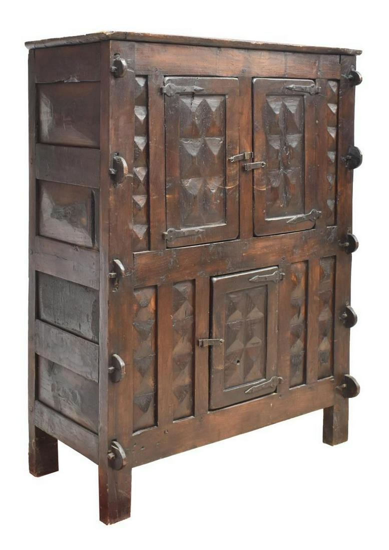 RUSTIC CONTINENTAL CABINET, 18TH/ 19TH C.