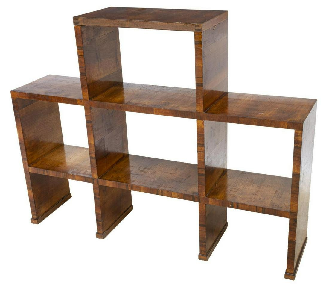 FRENCH ART DECO STEPPED BOOKCASE