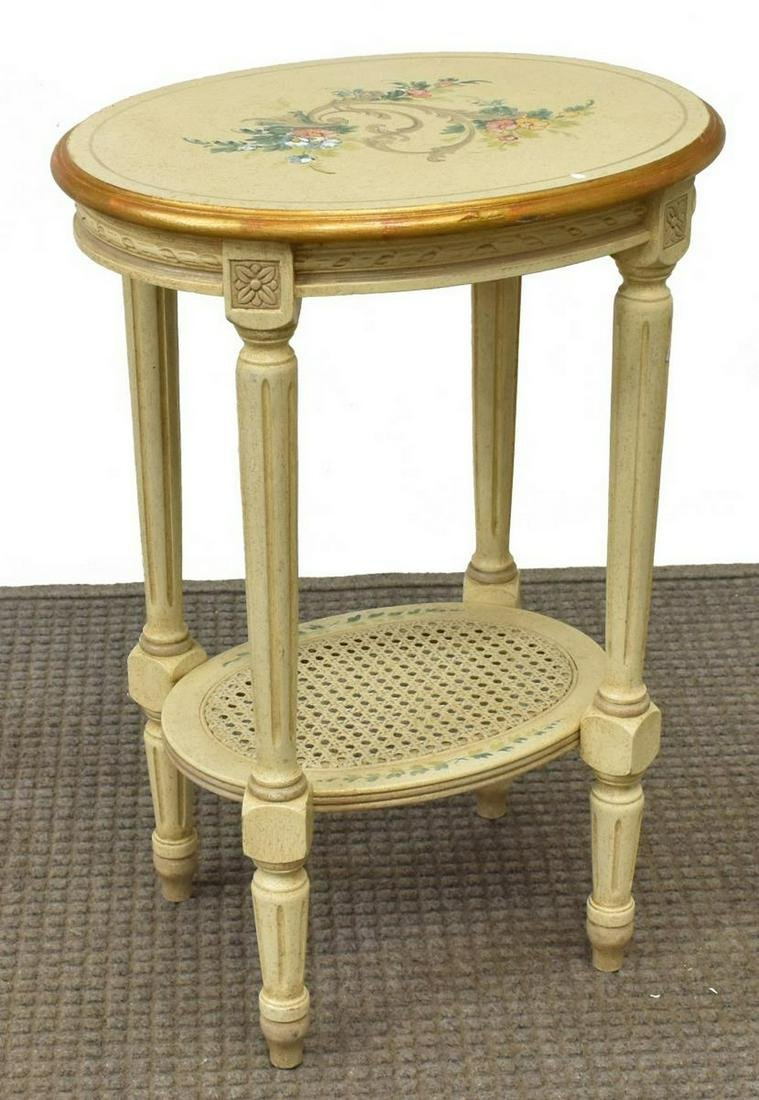 FRENCH LOUIS XVI STYLE PAINTED SIDE TABLE