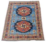 """HAND-TIED PERSIAN STYLE RUG, 6'0"""" x 4'9"""""""