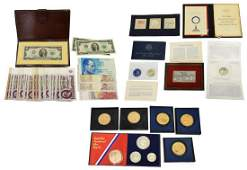 12 US COINS MEDALS US  FOREIGN CURRENCY