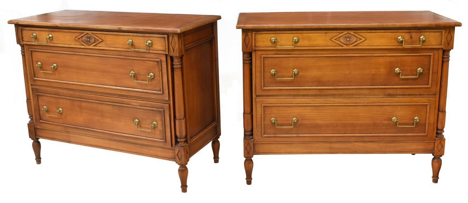 (2) FRENCH DIRECTOIRE STYLE FRUITWOOD COMMODES