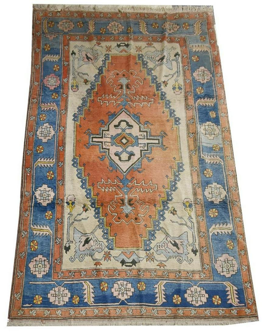 "HAND-TIED TURKISH HERIZ STYLE RUG, 11'1"" X 7'5"""