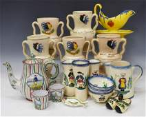 19 COLLECTION FRENCH QUIMPER  FAIENCE TABLEWARE