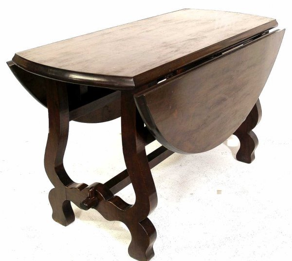 15: SPAIN BAROQUE STYLE CARVED WALNUT DINING TABLE