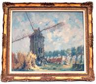 221: DUTCH DUAL SIDED FRAMED OIL PAINTING LANDSCAPES