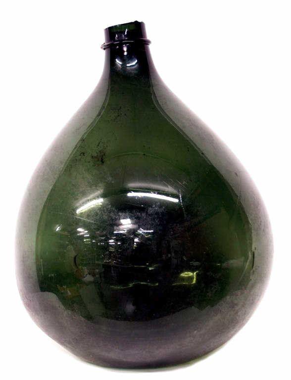 229: LARGE ANTIQUE HAND BLOWN GLASS BOTTLE SPAIN
