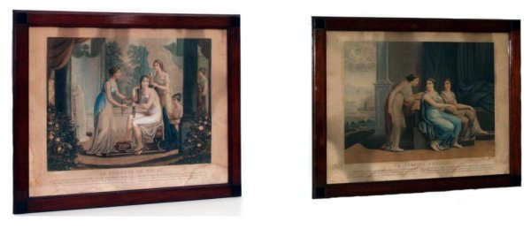 307: TWO FRENCH ENGRAVINGS, RAPHAEL PINX, GREEK SCENE