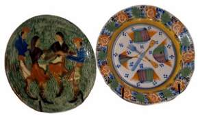 359: SPAIN HISPANO MORESQUE STYLE POTTERY CHARGERS