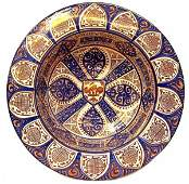 480: SPAIN HISPANO MORESQUE STYLE COPPER LUSTER BOWL